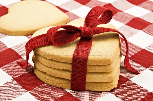 Coração bolinhos pano comida Foto stock © tish1
