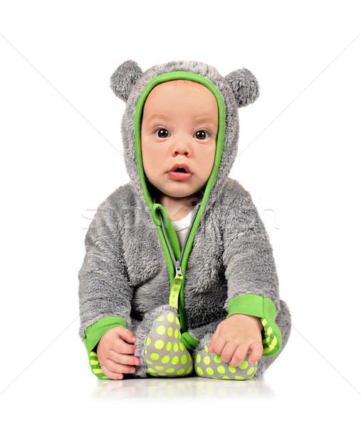 Sevimli küçük bebek erkek eğlence elbise Stok fotoğraf © tish1