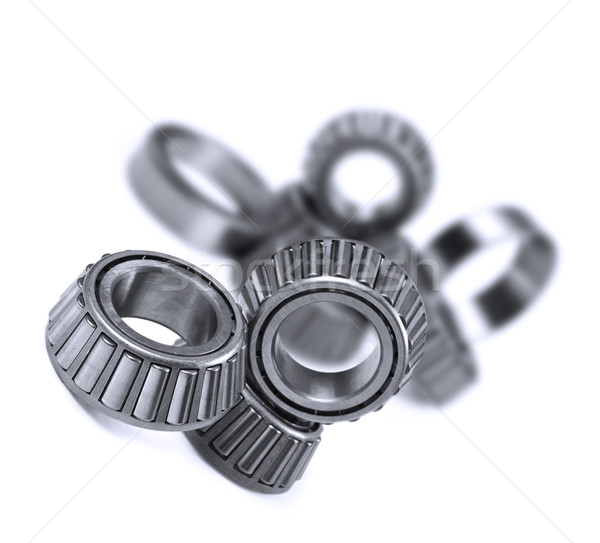Ball bearings on a pure white background with space for text Stock photo © tish1