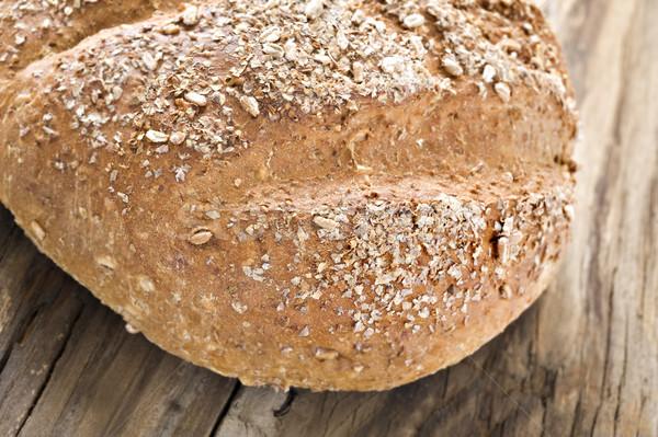 Saludable pan de trigo entero superficial campo alimentos Foto stock © tish1