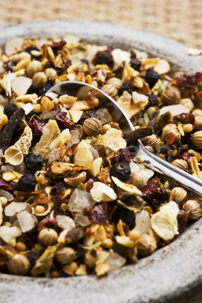 Mix of spices and herbs for seasoning of food Stock photo © tish1