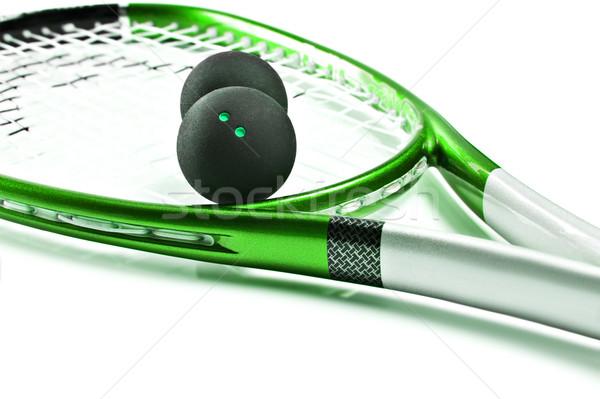 Vert squash raquette blanche espace Photo stock © tish1