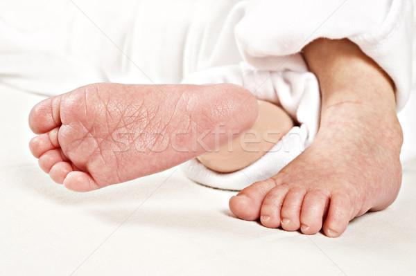 フィート 新しい 生まれる 赤ちゃん 白 ストックフォト © tish1