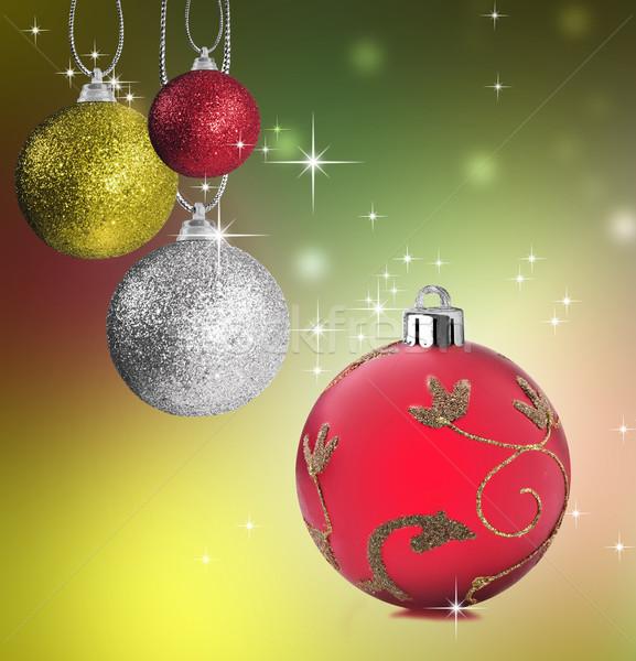 Renkli Noel önemsiz şey star kırmızı Stok fotoğraf © tish1