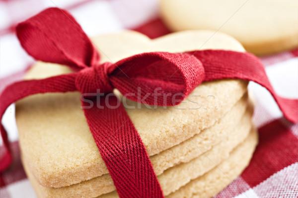 Herzform Cookies Herz Tuch Stock foto © tish1