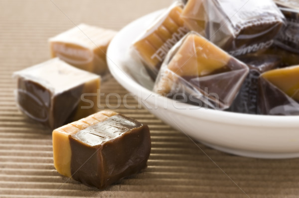 Cream caramel and chocolate sweets Stock photo © tish1