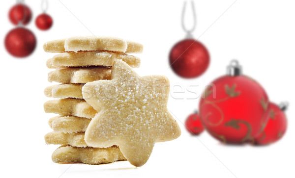 Cookies Noël blanche espace texte texture Photo stock © tish1