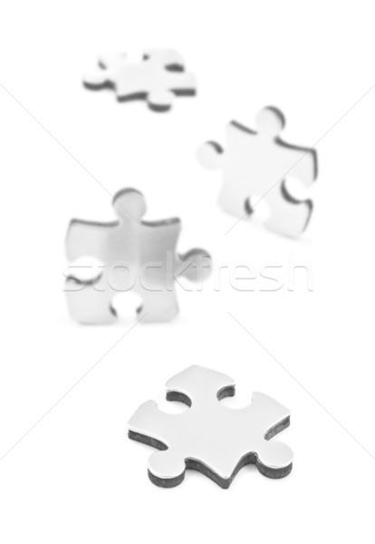 Parçalar beyaz puzzle parçaları uzay metin Stok fotoğraf © tish1