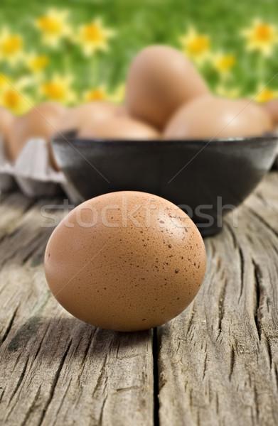 Fresh farm eggs ready to be cooked Stock photo © tish1