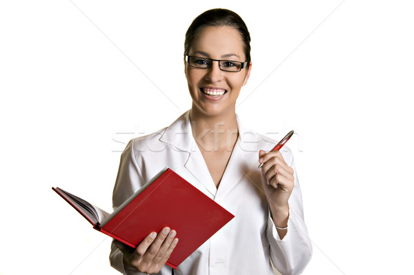 Young woman taking notes Stock photo © tish1