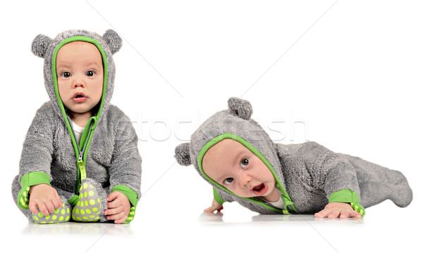 Six month old identical twin brothers Stock photo © tish1