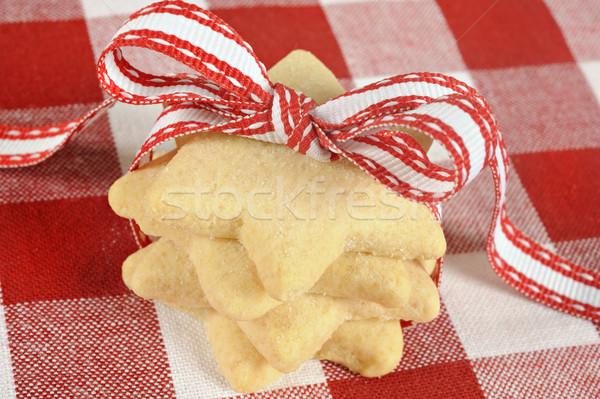 Star kurabiye şerit bez doku Stok fotoğraf © tish1