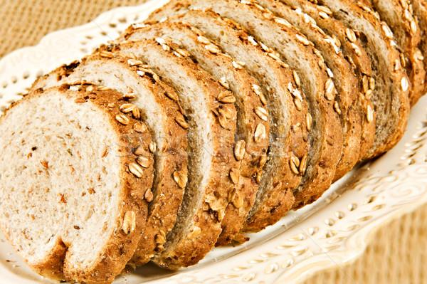 Saludable pan de trigo entero rebanadas alimentos salud Foto stock © tish1