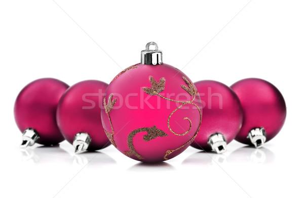 Parlak pembe Noel beyaz uzay metin Stok fotoğraf © tish1