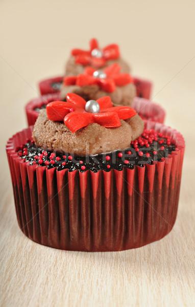 çikolata kırmızı lezzetli gıda Stok fotoğraf © tish1