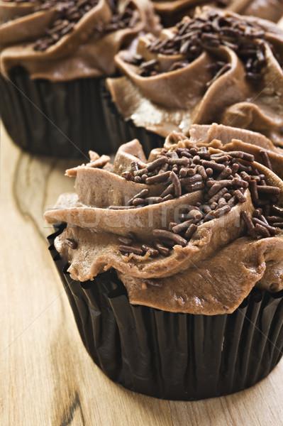 Taze çikolata sığ alan parti Stok fotoğraf © tish1