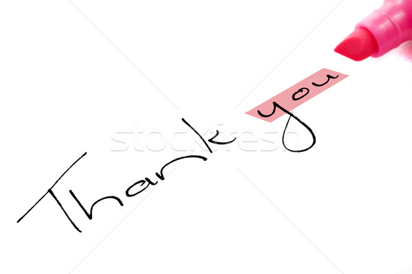Thank you with hightlighter pen Stock photo © tish1