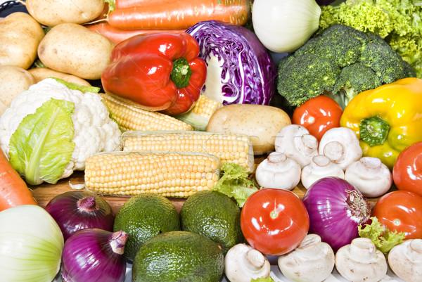 Fresco orgânico legumes pronto usado natureza Foto stock © tish1
