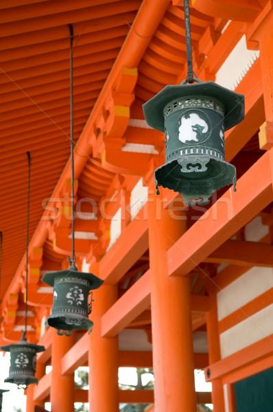 Santuario lanterne uno tempio kyoto Giappone Foto d'archivio © tito