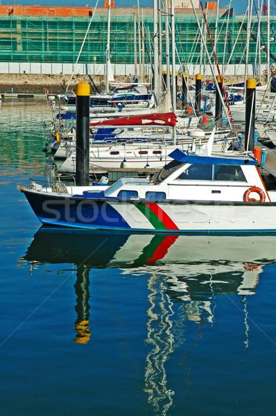 Luxury sail yacht Stock photo © tito