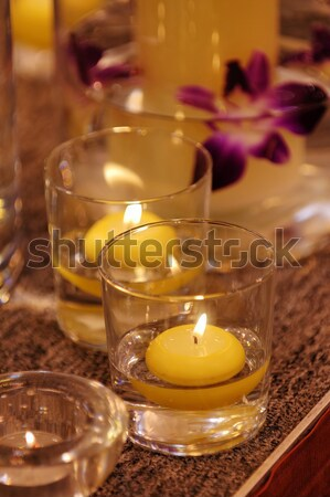 Tiro spa velas flores flor Foto stock © tito