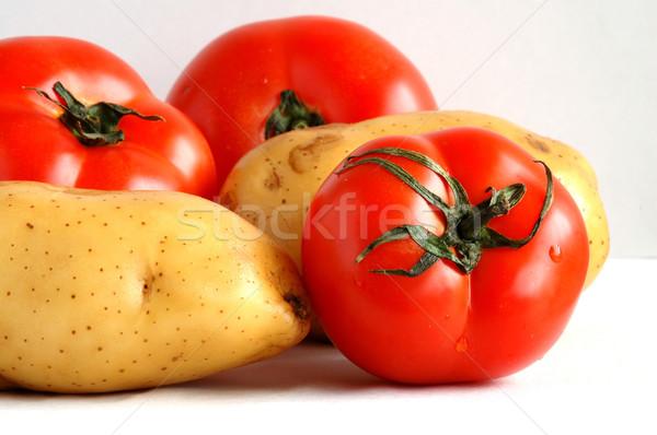 помидоров три два картофель лист фрукты Сток-фото © tito