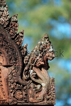 Statue of mandapa at Banteay Sreiz, Cambodia Stock photo © tito