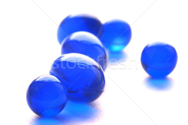 Resumen pastillas azul color Foto vitaminas Foto stock © tito