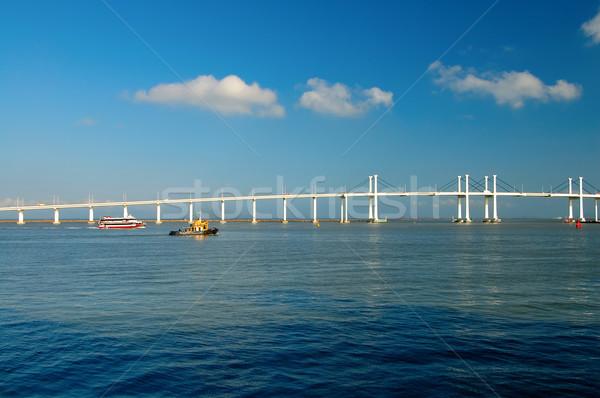 Zee water bouw oceaan brug Stockfoto © tito
