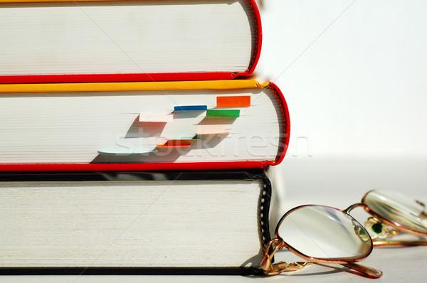 Three books and glasses Stock photo © tito