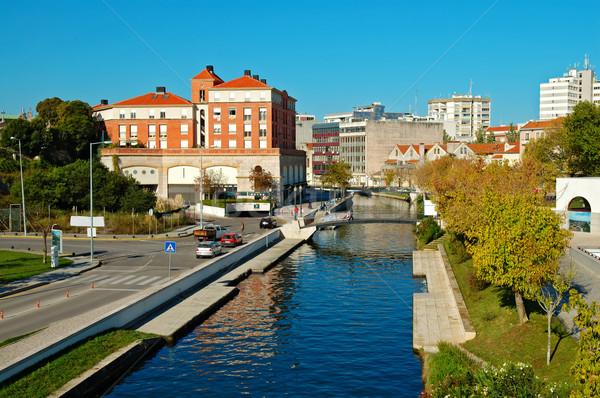 Stad panorama Portugal water stedelijke Stockfoto © tito