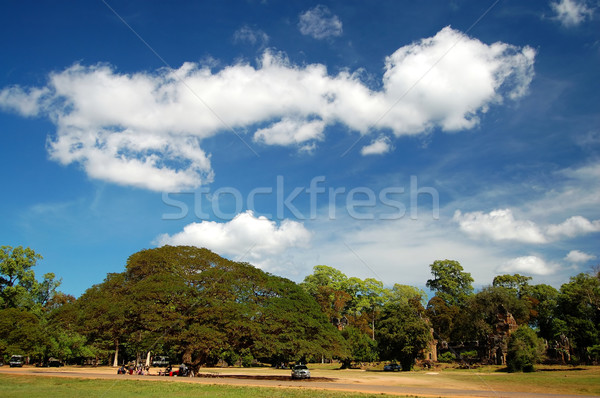 Skyscape of Prasat Suor Prats, Combodia Stock photo © tito