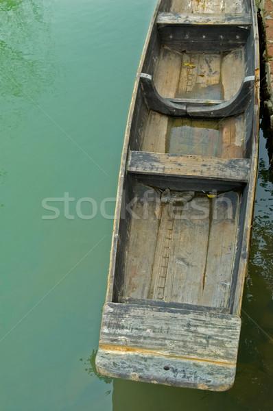 Hajók folyó város park természet utazás Stock fotó © tito