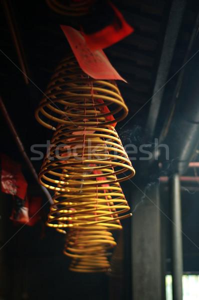ладан подвесной китайский храма дым молятся Сток-фото © tito