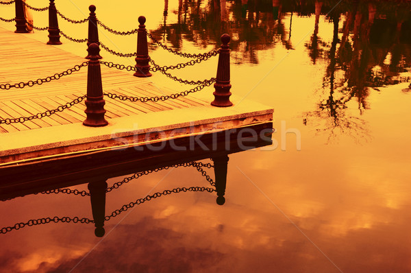 Railing posts Stock photo © tito