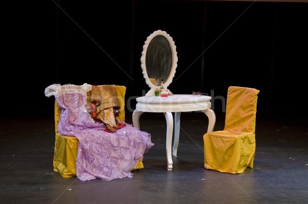Establecer etapa escritorio teatro espejo Foto stock © tito