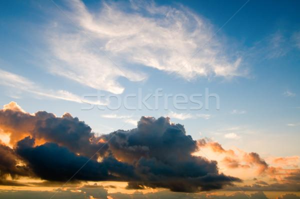 Puesta de sol cielo amanecer nubes primavera resumen Foto stock © tito