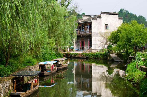 Agua ciudad China vista barco hombre Foto stock © tito