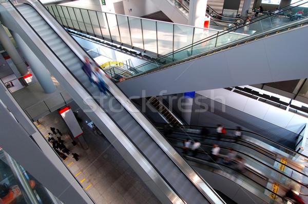 Escalators in airport Stock photo © tito