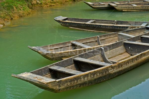 Barcos río ciudad parque naturaleza viaje Foto stock © tito