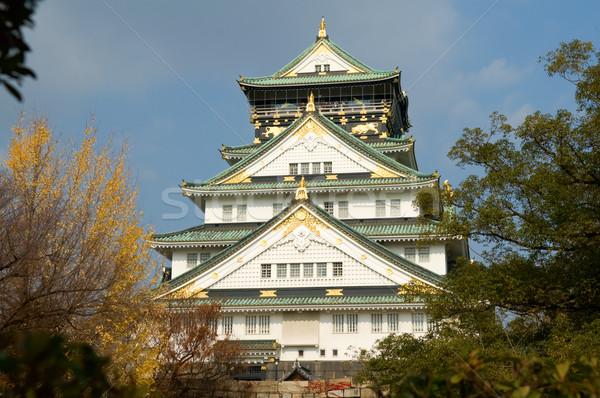 Osaka castillo paisaje otono Japón pared Foto stock © tito
