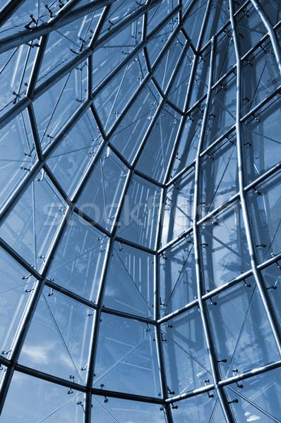 Vue interne verre construction hôtels ciel bleu Photo stock © tito
