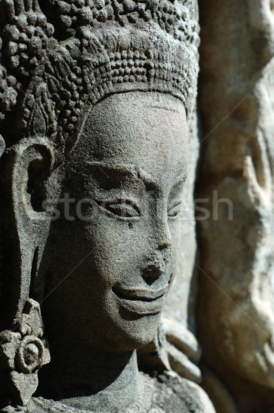 Sculptured apsara, Siem Reap, Cambodia Stock photo © tito