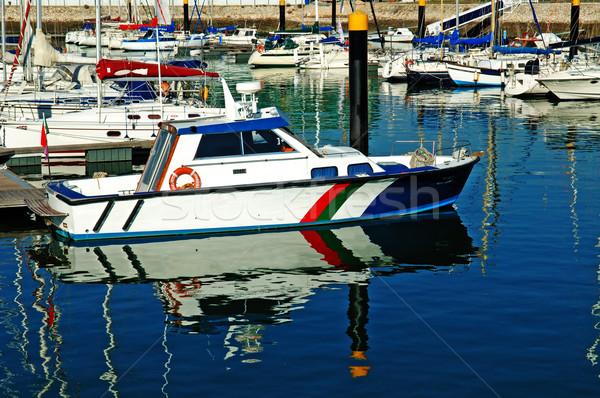 Lujo vela yate mar puerto verano Foto stock © tito