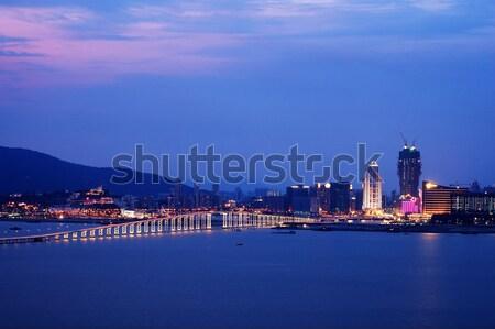 Night view of Macau city Stock photo © tito