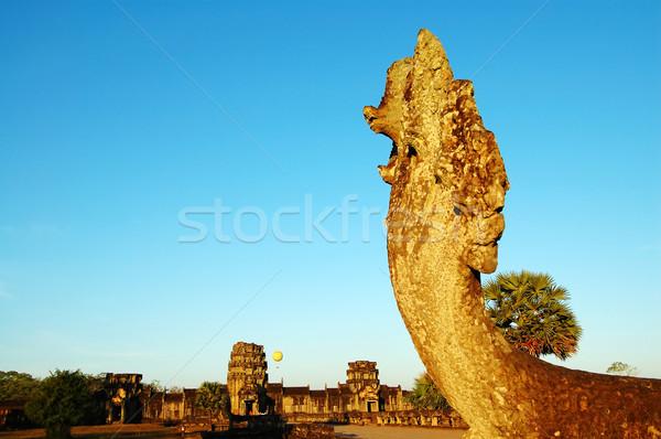 Kafa Angkor Wat görüntü heykel çit Stok fotoğraf © tito