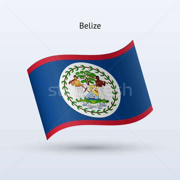 Belize zászló integet űrlap szürke felirat Stock fotó © tkacchuk