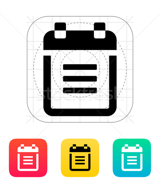 Notepad with spiral icon. Stock photo © tkacchuk