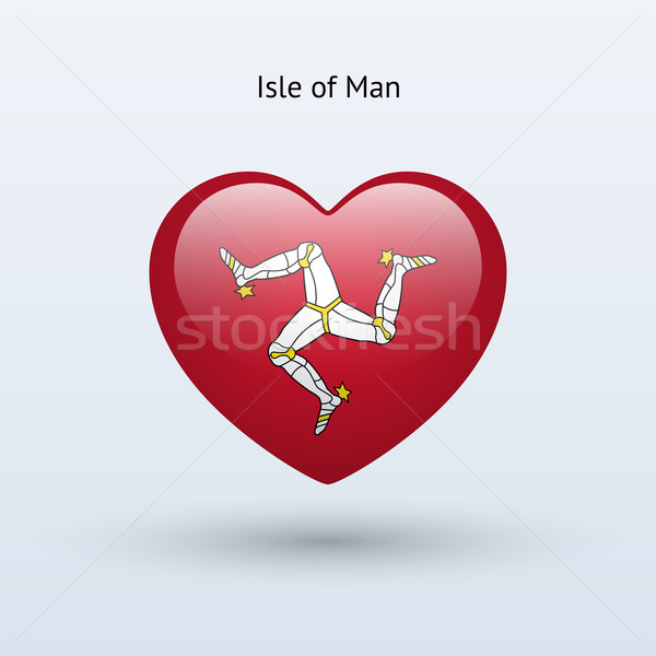 Love Isle of Man symbol. Heart flag icon. Stock photo © tkacchuk