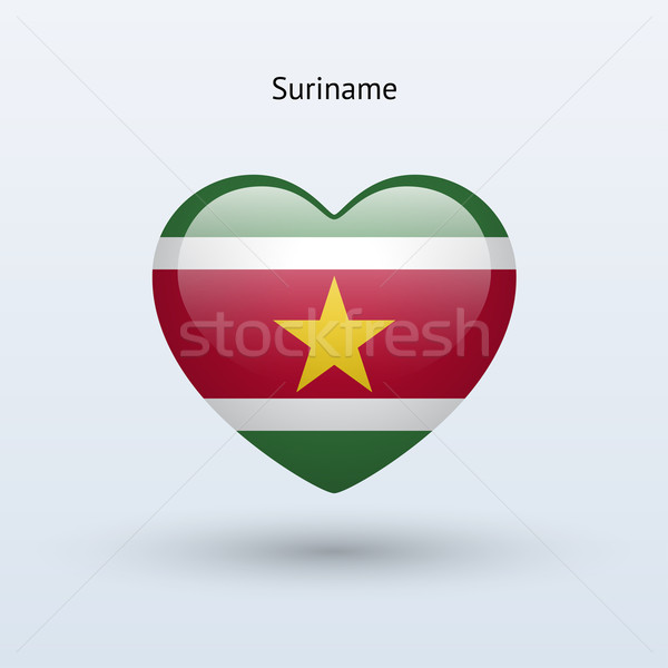 любви Суринам символ сердце флаг икона Сток-фото © tkacchuk